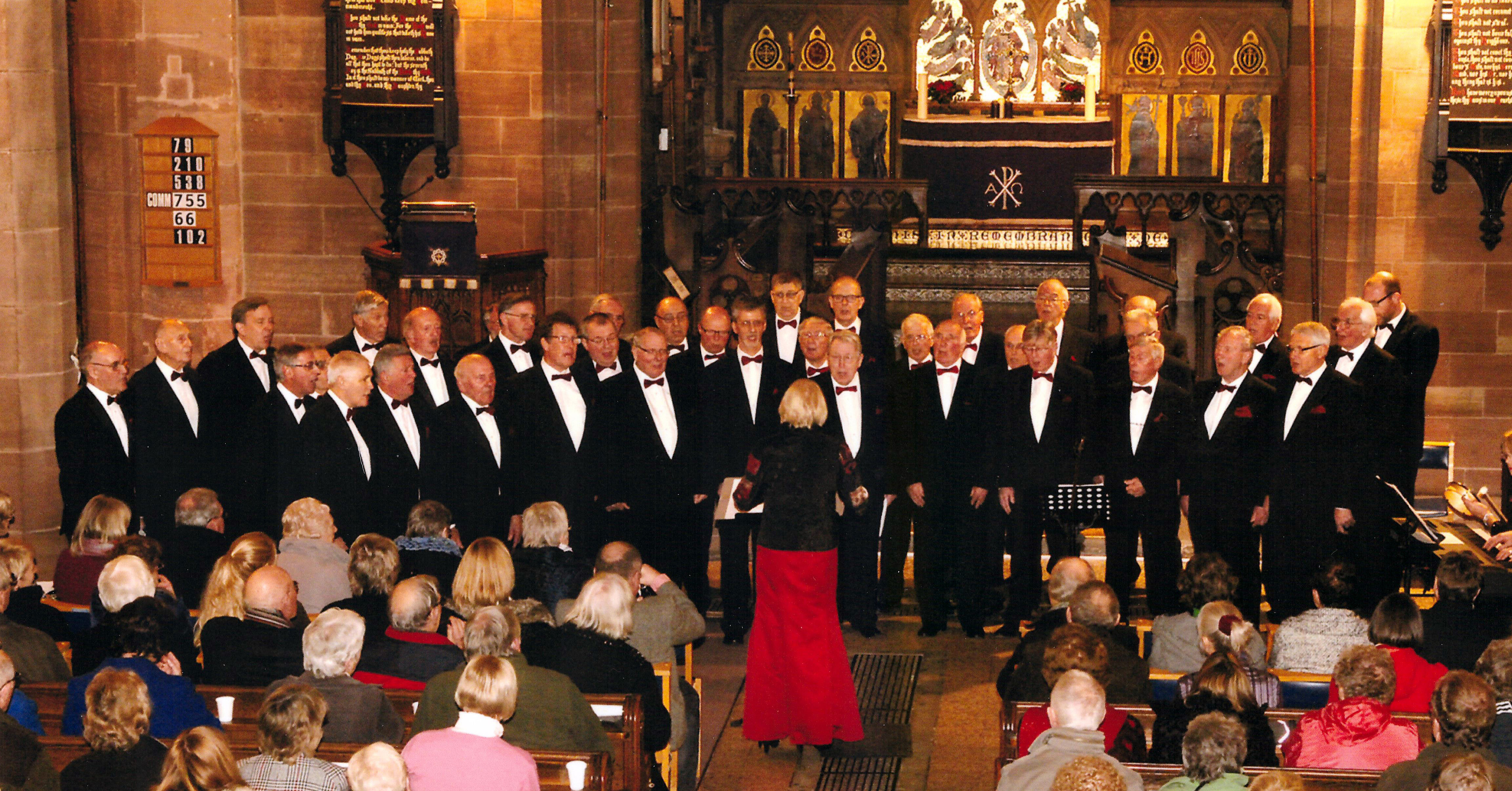 Newport (Salop) & District Male Voice Choir performing at our Christmas Concert at St Nicholas Church, Newport, TF10 on 19th December 2014