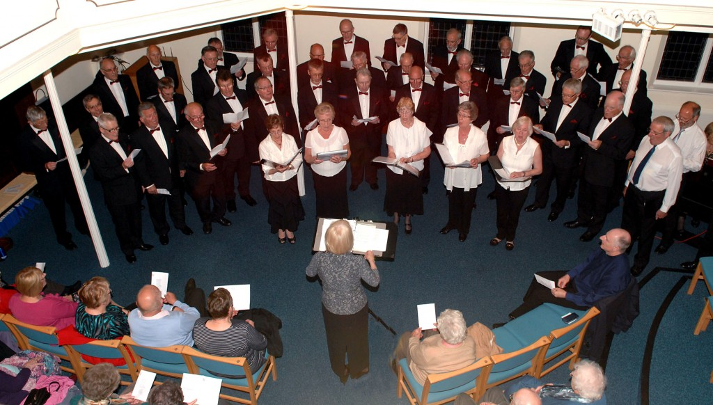 Newport (Salop) Male Voice Choir & Trinity Choir join forces at Trinity Church, Newport, Shropshire, on 15 May 2015