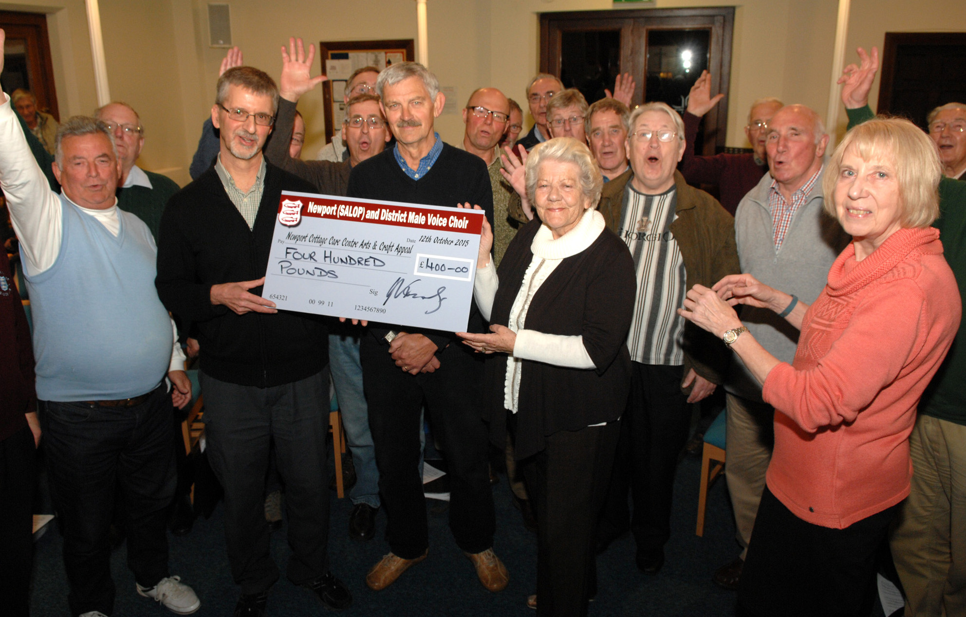 Good NMVC Present Cheque To Cottage Care Centre 12Oct2015
