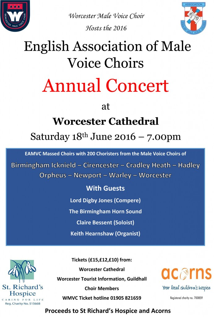 EAMVC Worcester concert poster 2016