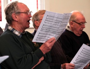 Learning the notes at our Singing Day, 30 January 2016