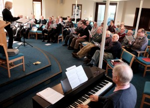 Newport (Salop) & District Male Voice Choir at Singing Day, January 2016