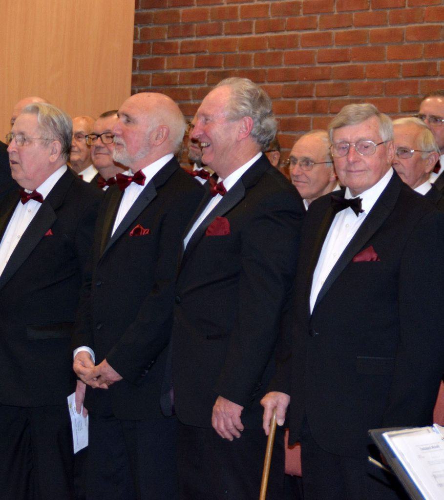 Choir members lining up at St John Muxton 04Nov16