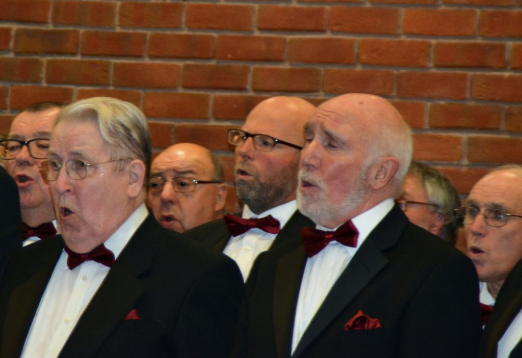 Choir members in full voice at St John Muxton - 04Nov16