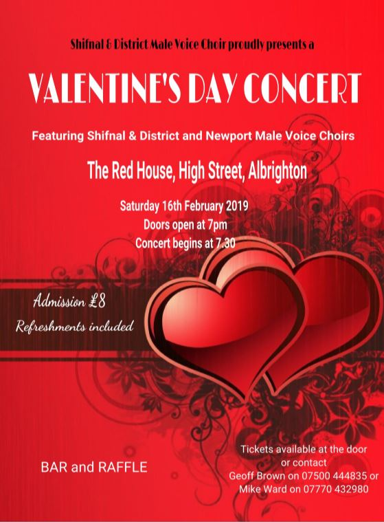Poster for Shifnal Concert 16 Feb 2019