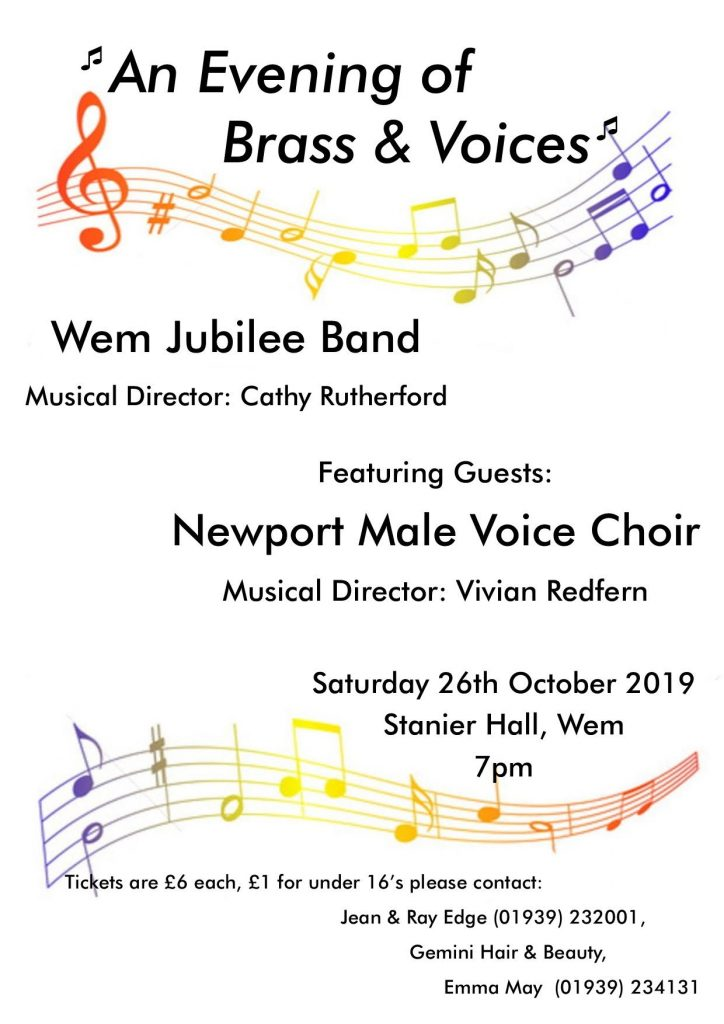 Wem Band Concert Poster - Oct19